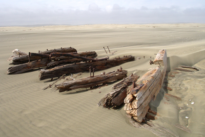 Remnant of an early ship wreck